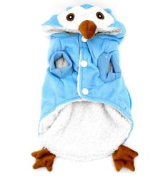 Small Dog Clothes Owl Costume Christmas Halloween Fancy Dress Puppy Pet Cat Dog Pajamas Fleece Hooded Jacket