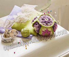 crochet kingdom (E.H): Crochet For Home...Hexagon pincushion,and a free pattern!