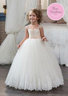 Flower Girl Dress - Tutu Dress - Girls Lace Dress - Big Bow Dress ...