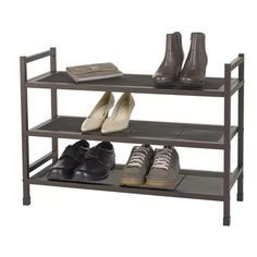 Neatfreak Heavy-Duty Stackable Metal Shoe Rack with Mesh Shelves – Brown – Top Trend – Decor – Life Style Vertical Shoe Rack, Metal Shoe Rack, Shoe Racks, Stackable Shoe Rack, Drawer Organisers, Shoe Organizer, Bronze Finish, Home Organization, Organizing