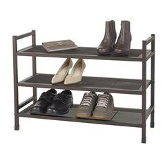Neatfreak Heavy-Duty Stackable Metal Shoe Rack with Mesh Shelves – Brown – Top Trend – Decor – Life Style Best Shoe Rack, Diy Shoe Rack, Shoe Racks, Shoe Cubby, Shoe Storage, Vertical Shoe Rack, Metal Shoe Rack, Stackable Shoe Rack, Shoe Organizer