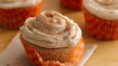 All the great cinnamon flavors of snickerdoodle cookies are captured in these wonderful homespun cupcakes.