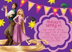 Tangled Rapunzel Purple Birthday Invite Card Can be Personalized or Customized Invitation JPEG Printable Children Holiday Happy Birthday Kids, Birthday Themes For Boys, Free Birthday Card, Girl Birthday, Birthday Cards, Purple Birthday, Birthday Ideas, Princess Party Invitations, Invitation Card Party