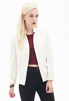 Forever 21 is the authority on fashion & the go-to retailer for the latest trends, styles & the hottest deals. Shop dresses, tops, tees, leggings & more! Forever 21 Uk, Shop Forever, Cream Flats, London Shopping, New Fashion, Fashion Trends, Business Attire, Outerwear Women, Blazer Jacket