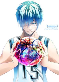 Kuroko no Basket ~~ The ball reminds me of the Earth. Is he planning a Worldwide conquest or contemplating Global Climate change?