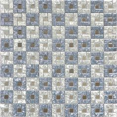 silver mirror glass mosaic for TV wall from China factory with many colours