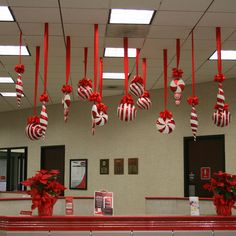 christmas ceiling decorations office xmas decorations peppermint christmas decorations christmas decorating themes