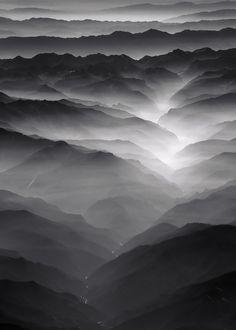 Nero , mountain , fog , dark , black , photography
