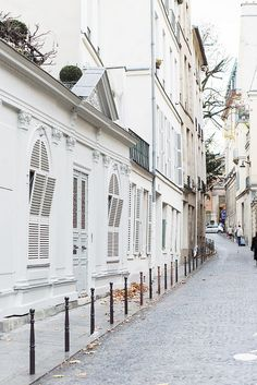 The very beautiful streets of Paris. So romantic and love the windows!