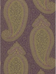 Buy Zoffany Kashmir Wallpaper, Aubergine, TRA06006 online at JohnLewis.com - John Lewis