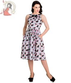HELL-BUNNY-50s-SCOTTIE-dog-check-SUMMER-DRESS