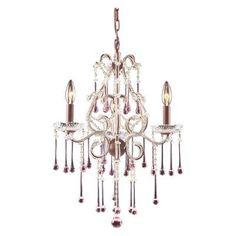 ELK Lighting Opulence Chandelier Crystal - 17W in. Rose - 4011/3RS