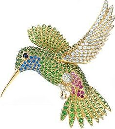 A Tiffany & Co. Jewel Hummingbird Brooch.