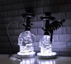 Crystal Head Vodka 1.75L Bottle Hookah With 16 Color Changing LED stand
