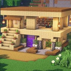 Minecraft Bauwerke, Minecraft Welten, Minecraft House Plans, Minecraft Cottage, Minecraft Houses Survival, Cute Minecraft Houses, Minecraft House Tutorials, Minecraft House Designs, Amazing Minecraft