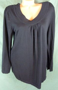 98ec4e1e81c Lane Bryant Sz 18 20 Stretch Black Thin Knit Cardigan Sweater Cotton Scoop  Neck  LaneBryant