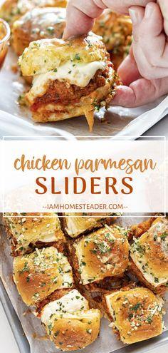 Vegan Recipes Easy, Pasta Recipes, Chicken Recipes, Cooking Recipes, Cuban Recipes, Meat Appetizers, Appetizer Recipes, Slider Sandwiches, Hawaiian Rolls