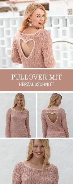 DIY-Anleitung für einen Strickpullover mit Herzausschnitt am Rücken / diy tutorial and pattern for a knitted pullover with heart shaped back via DaWanda.com