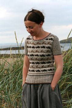 Tortoise and Hare jumper // Fitted short sleeve jumper (purchasable knitting pattern) | Kate Davies // via Ravelry