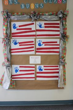 PreK 4th of July Activity-Students talk about the different shapes associated with the flag, also reinforces skills such as color identification, following directions, fine motor control.