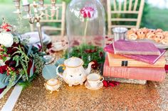 Beauty and the Beast Table Decor - A Princess Inspired Blog | Kaitlin's Photography