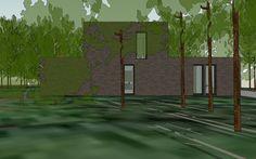 De woning in zijn bosrijke omgeving 1511CLER stam.be