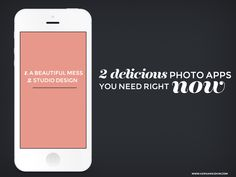 2 Delicious Instgram Apps you need right now! Polish up those images for your blog or create some cool blog graphics!