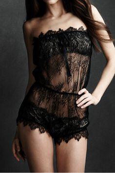 black sheer lace