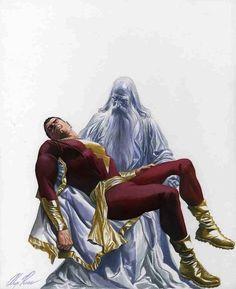 Captain Marvel And Shazam By Alex Ross Dc Comics Art Original