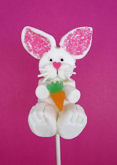 Dollhouse Bake Shoppe: Easter Bunny Marshmallow Pops