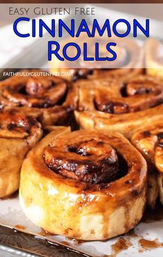 These are the Best Gluten Free Cinnamon Buns you'll find, I promise! Soft, sweet, sticky, and as good as that wheat-based cinnamon bun from your past. Gluten Free Food List, Gluten Free Rolls, Gluten Free Cinnamon Rolls, Lactose Free Diet, Gluten Free Carrot Cake, Gluten Free Recipes For Breakfast, Best Gluten Free Recipes, Gluten Free Sweets, Gluten Free Breakfasts
