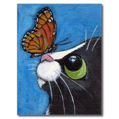Gato del smoking y mariposa del virrey postales                                                                                                                                                     Más