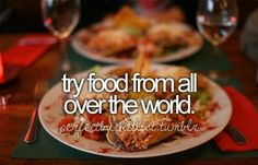 One thing I absolutely love to do is to learn about other cultures, what better way than food? Psht yea! :D