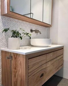 Mosaic Tile Bathroom Backsplash Ideas That'll Prove You Have Impeccable Taste Laundry In Bathroom, Bathroom Renos, White Bathroom, Bathroom Renovations, Bathroom Furniture, Small Bathroom, Master Bathroom, Remodel Bathroom, Washroom
