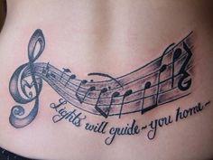 Tatuagem Notas Musicais