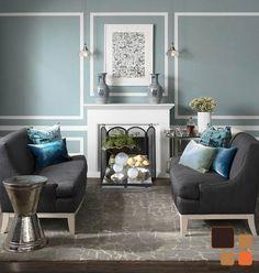 Las decoraciones simétricas, siempre son una buena solución de acomodo. www.bodegademuebles.com