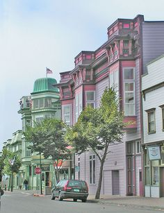 Looking toward the Eagle House by Old Town Eureka, California, via Flickr
