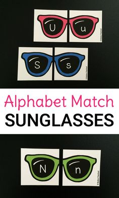 Preschoolers and kindergarteners can stay cool all summer with this free alphabet match sunglasses game. Simply print, cut, and identify letters!