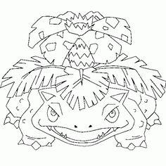 Pokemon coloring - Venusaur, free, pokemon, coloring, page free coloring Super Coloring Pages, Coloring Pages For Boys, Colouring Pages, Free Coloring, Pokemon Sketch, Pokemon Venusaur, Manga Coloring Book, Coloring Books, Tattoo Sketches