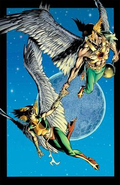 Hawkgirl & Hawkman by Rags Morales