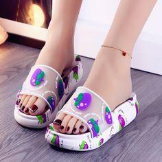 Estilo Indie, Wedding Shoes Bride, Barbie Toys, Fruit Pattern, Cute Sandals, Platform Shoes, Types Of Shoes, Slippers, Flats