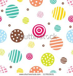 Cute seamless pattern, polka dot fabric, wallpaper, vector. by Vyazovskaya Julia, via ShutterStock