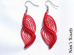 (Noa's Knots) macrame earrings