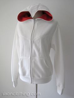 Nothing is true. Blend in with the crowd. =D This eye-catching Assassins Creed hoodie has seams front and back and along the hood. The front zips up with pockets on b Assassin Game, Assassins Creed Hoodie, Assassin's Creed I, Mein Style, Hoodie Jacket, Types Of Fashion Styles, Cosplay Costumes, Cool Outfits, Hoodies