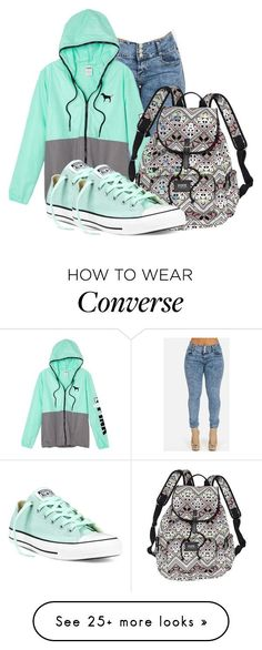 """~Jumpan"" by stay-sassy on Polyvore featuring Victoria's Secret and Converse"