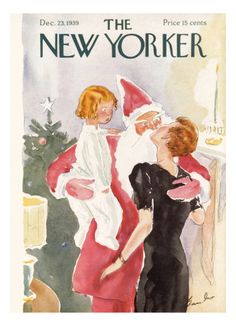The New Yorker Cover - December 23, 1939  by Perry Barlow
