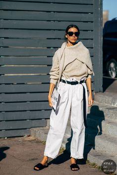 Paris SS 2019 Street Style: Julie Pelipas - Street Fashion Trends and Beauty Tips Fashion Mode, Fashion Week, Spring Fashion, Winter Fashion, Womens Fashion, Fashion Trends, Style Fashion, Summer Fashion Street Style, Feminine Fashion