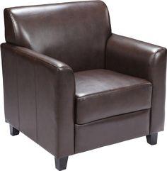 Flash Furniture Hercules Diplomat Series Brown Leather Chair Flash Furniture