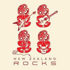 NZ rocks medium art block - From Global Culture