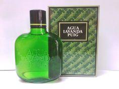 Vintage AGUA LAVANDA PUIG Eau de Cologne Glass 200 ml